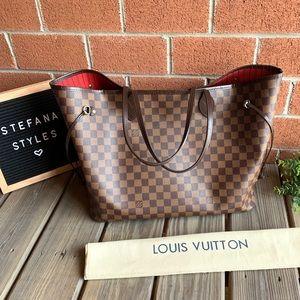 Louis Vuitton Neverfull GM Damier Ebene Tote Bag